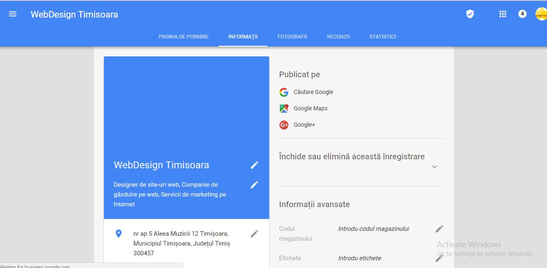 web design timisoara google