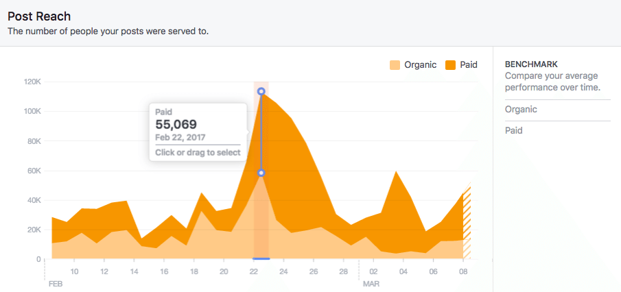 reach facebook insights