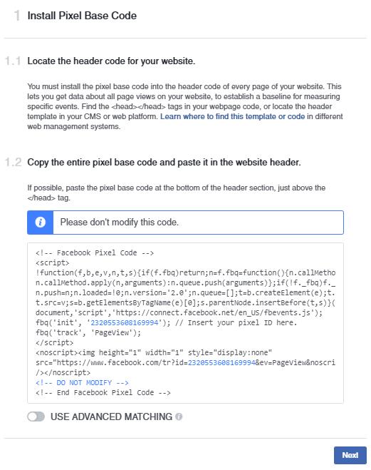 facebook ads ghid pixel